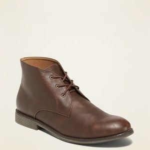 """Faux Leather Chukkas for Men's  Smooth 6"""" Tall"""